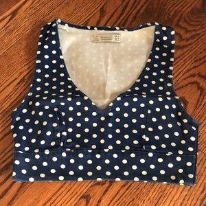 Zara denim crop top